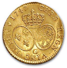 Louis d'or au bandeau. 1747. D. 1643. TTB à superbe.