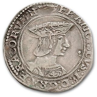 FRANÇOIS Ier (1515-1547) Teston, 3e type (Pt 8e). D. 794. TTB.