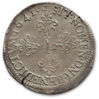 Demi franc, 15e type. 1641. Grenoble. D. 1329A. Très rare et bien conservé. Très...