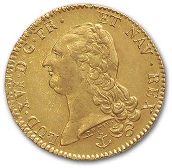 Double louis d'or au buste nu. 1787. La Rochelle....