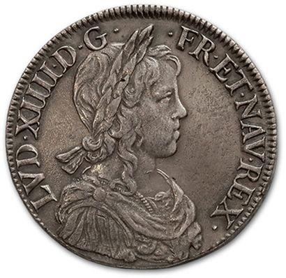 Écu à la mèche longue. 1648. Rouen. D. 1469....