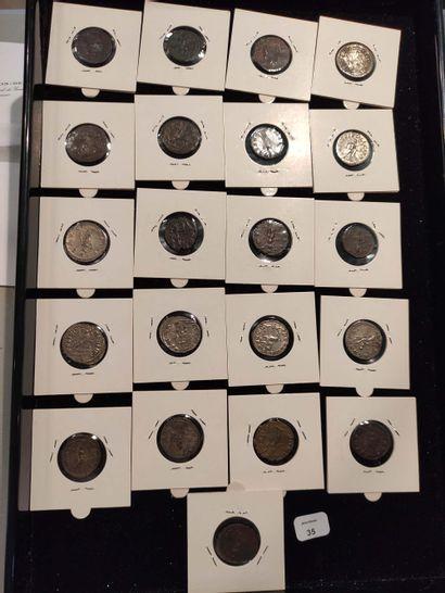 Antoninian: 21 copies. Gallien (4 ex.) C. 72, 308, 326 and 344 - Salonine C. 50...