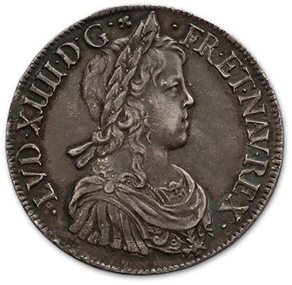 Écu à la mèche longue. 1647. Montpellier....