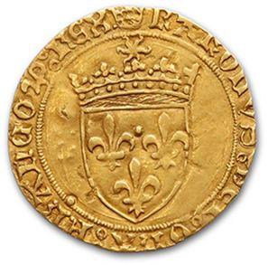 CHARLES VIII (1483-1498) Écu d'or au soleil....