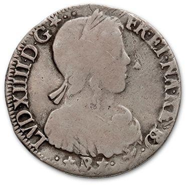 Demi écu de Béarn à la mèche longue. 1658.3...