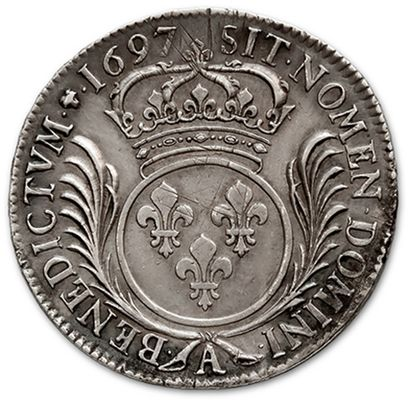 Shield with palms. 1697. Paris. New blank. D. 1520. Rare in this condition. Almost...
