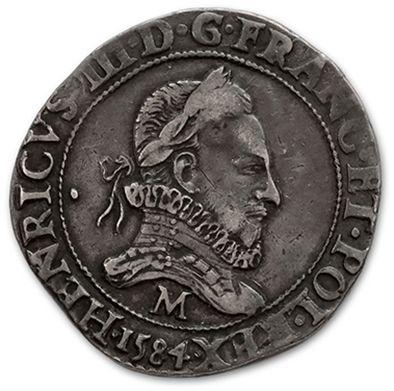 Franc au col fraisé. 1584. Toulouse. D. 1130A....