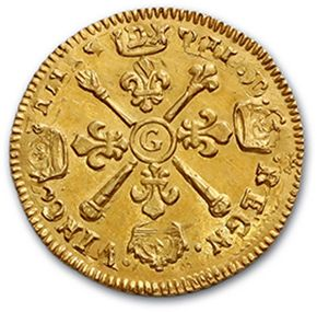 Louis d'or aux insignes. 1704. Réf. D. 1446A. TTB à superbe.