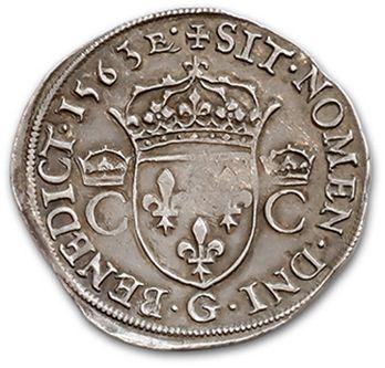 CHARLES IX (1560-1574) Teston. 1563. D. 1063. A very fine copy.
