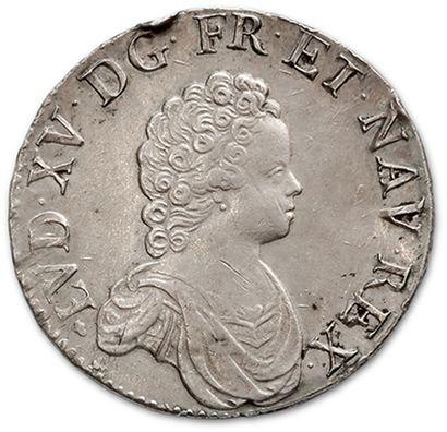 LOUIS XV (1715-1774) Écu vertugadin. 1717....