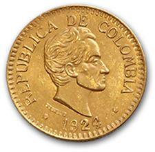 République de Colombie 2 et demi pesos or:...