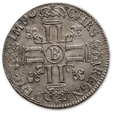 Demi écu aux huit L, 1er type. 1692. Rouen. Réf. D. 1515A. Superbe