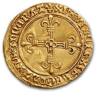 CHARLES VIII (1483-1498) Gold shield with sun (Pt 8th). 3.41 g. D. 575A. TTB to...