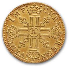 LOUIS XIV (1643-1715) Demi louis d'or à la mèche courte. 1644. Paris. D. 1420. Trace...