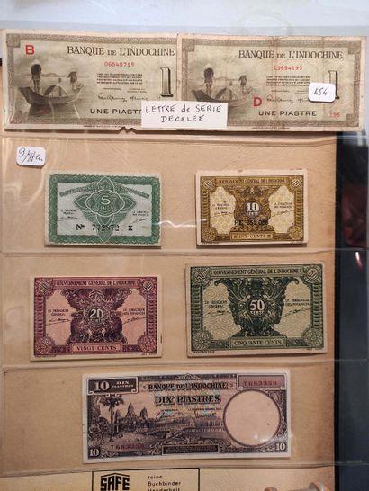 INDOCHINE/VIETNAM/LAOS Ensemble de 87 billets,...