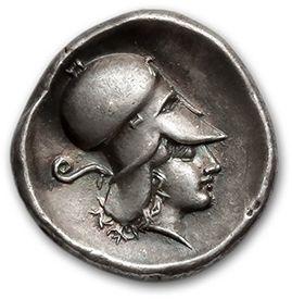 CORINTHIE: Corinthe (415-387 av. J.-C.) Statère....