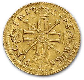 Louis d'or aux huit L et aux insignes. 1703 (?). Réf. D. 1143A. TTB.