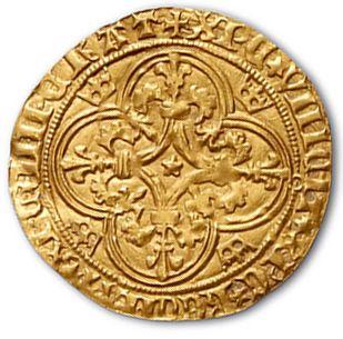 Écu d'or à la couronne (Pt 8e). 3,73 g. D. 369D. TTB.