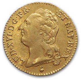 Louis d'or au buste nu. 1786. Metz. D. 1707....