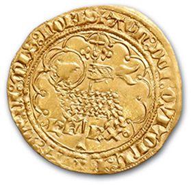 Agnel d'or. Angers (Pt 7e). 2,54 g. D372B....