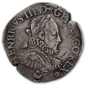 HENRI III (1574-1589) Teston. 1575. Bordeaux....