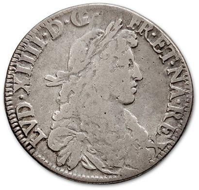 Écu de Navarre au buste juvénile. 1671. Saint-Palais....