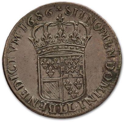 Écu de Flandre. 1686. Lille. D. 1509. TTB.