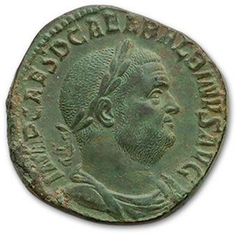 BALBIN (238) Sesterce. Rome. Son buste lauré,...