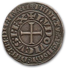 LOUIS IX (1226-1270) Gros tournois. D. 190. TTB.