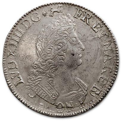 Écu de Béarn aux huit L, 2e type. 1704. Pau. Réf. D. 155A. Très belle conservation....