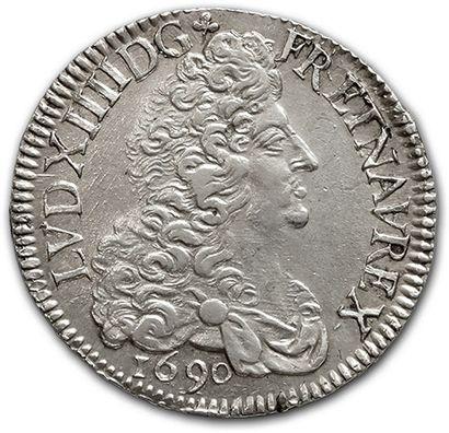 Écu aux huit L, 1er type. 1690. Montpellier....
