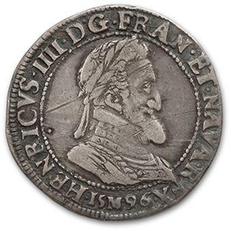 Demi franc. 1596. Toulouse. D. 1212A. Flan...