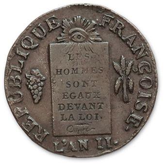 Sol aux balances. 1793. Bayonne. G. 19. Presque...