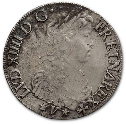 Écu de Navarre à la mèche longue. 1656. Saint-Palais....