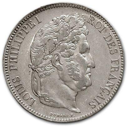 5 Francs tête laurée: 6 exemplaires. 1834D,...