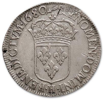 Shield with tie. 1680. La Rochelle. D. 1493. G. 210. Corner break. TTB to super...