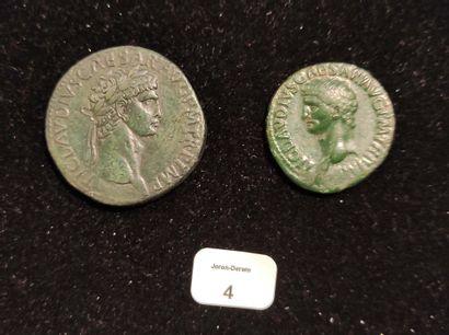 CLAUDE (41-54) Sesterce. Rome (41-42) Sa...