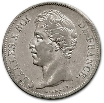 CHARLES X (1824-1830) 5 francs: 5 exemplaires....