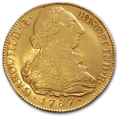 Charles III (1759-1788) 8 escudos or. 1787....