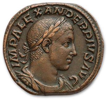 ALEXANDRE SÉVÈRE (222-235) Sesterce. Rome...