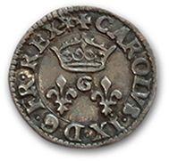 HENRI III (1574-1589) Denier tournois: essai...