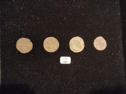 Demi franc: 3 exemplaires. 1594 Rouen, 1600 Angers et 1605 Toulouse. Quart de franc....