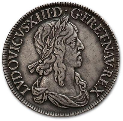 Écu de 60 sols, 1er poinçon de Warin. 1642....