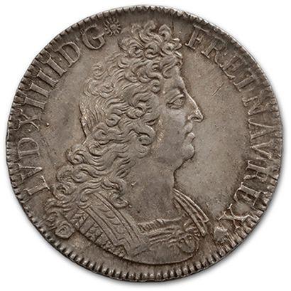 Écu aux insignes. 1702. Paris. Flan neuf....