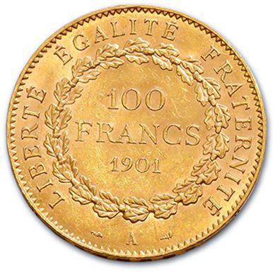 TROISIÈME RÉPUBLIQUE (1871-1940) 100 francs or, type Génie. 1901. Paris. G. 1137....