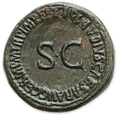 AGRIPPINE Mother (†33) Sesterce struck under Claudius. Rome. Her bust right. R/...