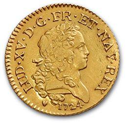 LOUIS XV (1715-1774) Louis d'or mirliton, palmes longues. 1724. D. 1638. Very nice...