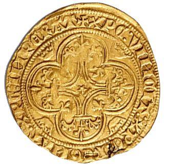 CHARLES VI (1380-1422) Écu d'or à la couronne. 3,79 g. D. 369. Traces de monture...