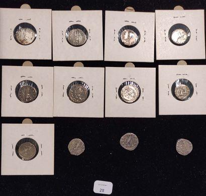 Denarius: 12 copies. Trajan (2 ex.) C. 301 and 372 - Hadrian C. 649 - Antoninus...