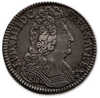 Demi écu aux trois couronnes. 1709. Paris....